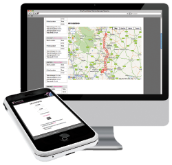 The SmarTrack system at work on a computer and smart phone